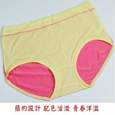 莫代爾馬卡龍色系拚色少女內褲 (0.9折)