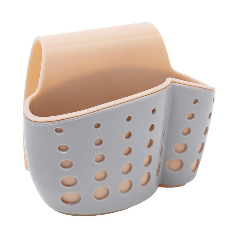 廚房用品水槽瀝水籃瀝水架掛袋水池置物架洗碗海綿收納掛籃 -