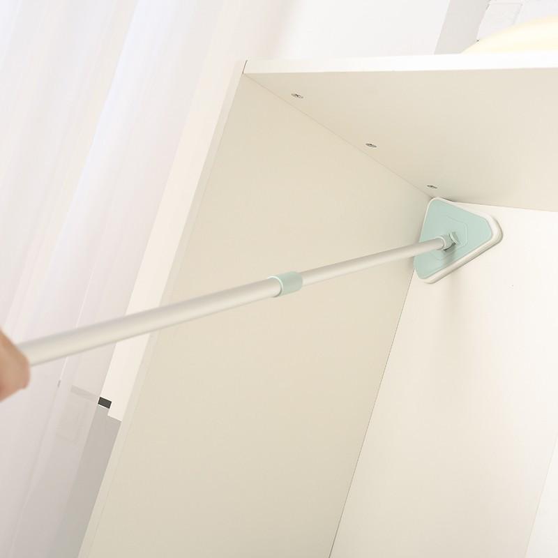 可伸縮海綿長柄刷子衛生間地板刷浴室瓷磚地刷浴缸刷海綿刷清潔刷1入