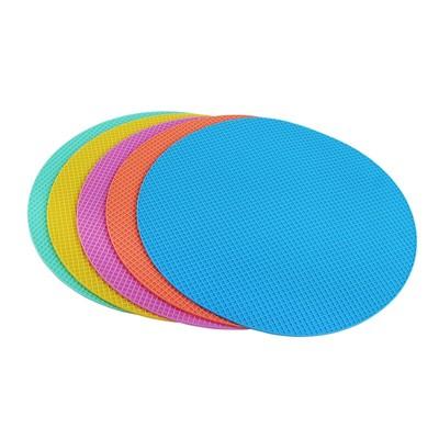 圓形硅膠鍋墊隔熱墊廚房防燙餐桌墊防滑耐熱盤杯墊碗墊子家用 - (10折)