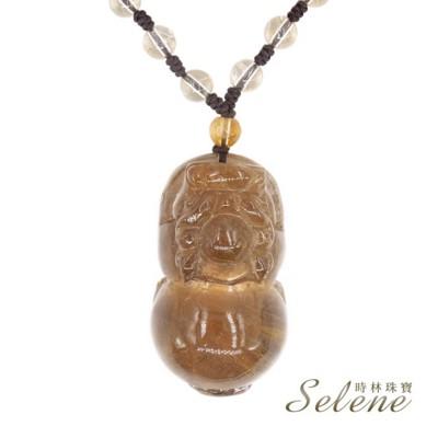 【Selene】吸金護財貔貅鈦金墜(招財水晶之王) (10折)