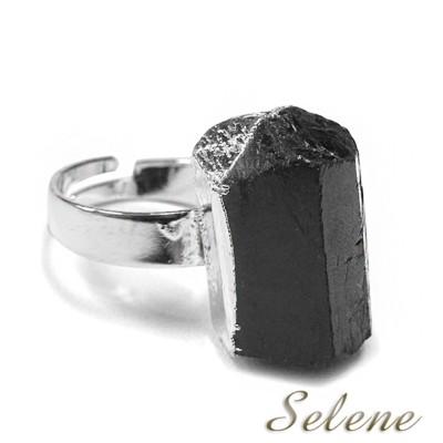 【Selene珠寶】神秘黑碧璽原礦戒(又名電氣石) (10折)