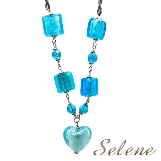 selene珠寶海洋之心琉璃項鍊(限量特價商品)