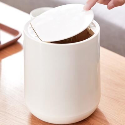 【AOTTO】北歐極簡風按壓式桌上垃圾桶(小身材 大容量) (5折)