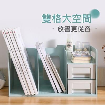 【AOTTO】馬卡龍多功能桌上收納書架(桌上收納架 書架 置物架 增高架) (6.3折)