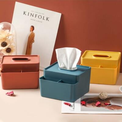 【AOTTO】撞色桌面收納盒 衛生紙盒(面紙盒 紙巾盒) (6.4折)