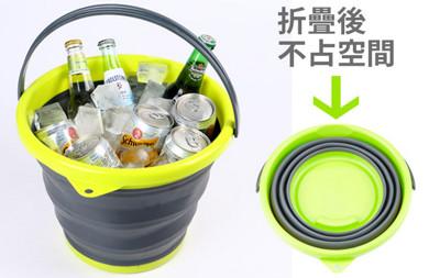 10公升摺疊水桶(綠色) (5.8折)