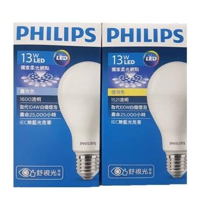 [台創星秀]PHILIPS LED-13W舒適光[白光] (5.4折)