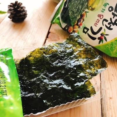 韓國 洪城郡岩烤薄鹽海苔;2種口味(鹽味/泡菜) (5.6折)