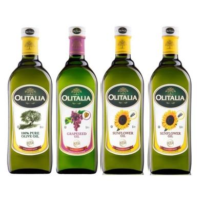 Olitalia奧利塔-烹飪調理油組(葵花油X2+橄欖油X1+葡萄油X1;1000ML/罐) (9.7折)