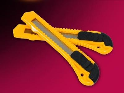 艾比讚 美工刀【L217】不鏽鋼美工刀 裁牆壁紙用美工刀 壁紙刀 拆箱刀 小刀 切割刀 隨身小刀 (1.4折)