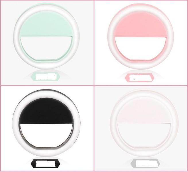 手機補光燈 xu096充電usb圓形補光燈 三檔 美顏自拍燈 led補光燈神器