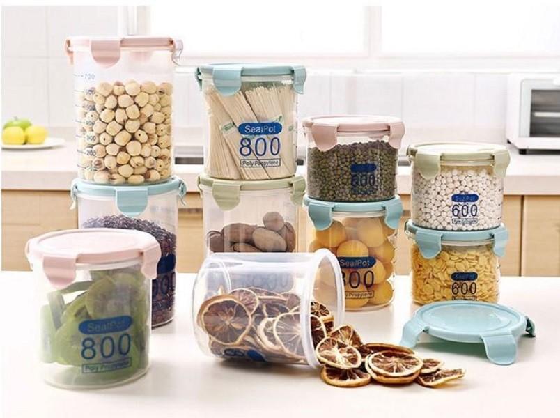 1500ml收納罐透明塑料密封罐xu005食品糧食冰箱收納罐廚房五穀雜糧收納盒儲物罐