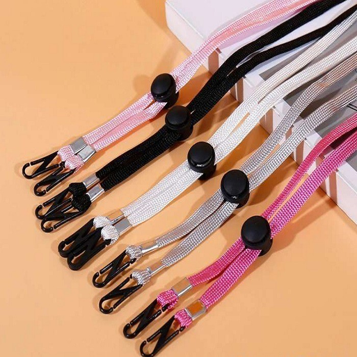 口罩掛繩ch274不挑色隨機發貨 可調節用防風繩帽繩疫情用口罩掛繩防風繩