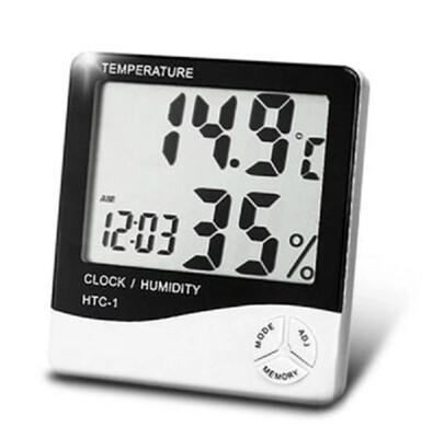 艾比讚【溫溼度計】液晶螢幕 多功能 溫度計 濕度計 電子鐘 時鐘 (4.8折)