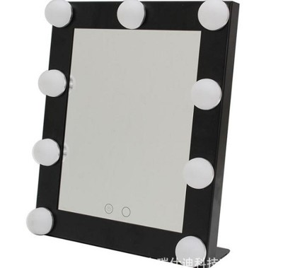 【方形2529化妝台CH】方形帶燈泡化妝鏡 台式LED燈美容鏡子 可調光便攜美容鏡 (7.3折)