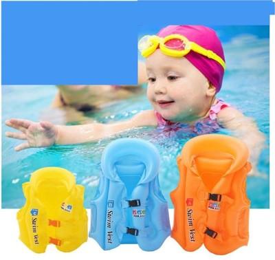 ~小號兒童加厚助遊充氣泳衣~兒童泳衣PVC 浮力背心學習游泳裝備安全游泳充氣男童
