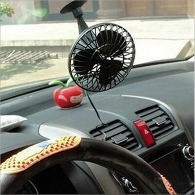 艾比讚 車用吸盤小風扇【FAN012】4吋 小巧 強風 省油 提高冷氣效率 降低油耗 12V (7.7折)