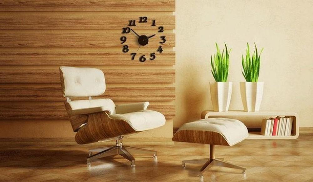 創意diy指針數字掛鐘客廳 臥室 3d牆貼鐘 創意掛錶 時尚客廳靜音diy黏貼牆鐘