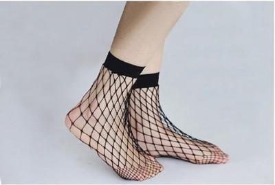 短款網襪ch2018網襪款女士黑色韓版鏤空交叉漁網襪短襪絲襪洞洞襪 (7.7折)