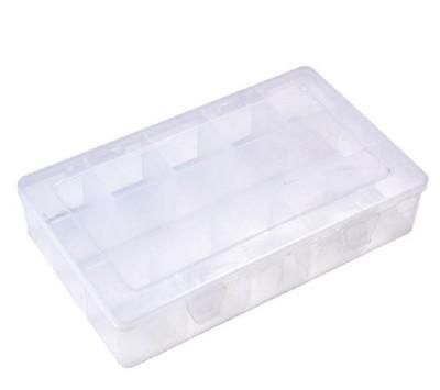 多功能15格透明膠帶盒s039 zakka紙膠控*超實用15格透明pvc紙膠防塵分類收納盒 工具 (3.5折)