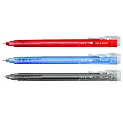 德國輝柏 Faber-Castell RX-5 RX-7 0.5 0.7 酷溜原子筆(1入10支) (10折)