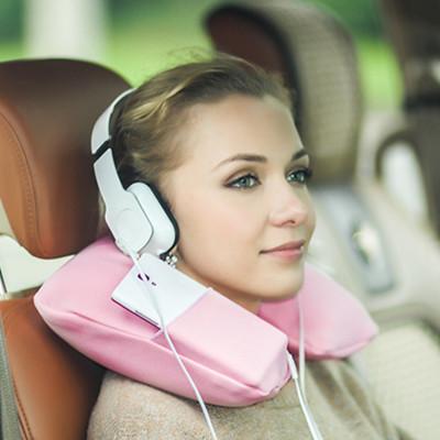 韓版可攜可拆卸旅行充氣U型頸枕 (2.3折)