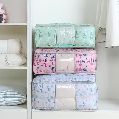 新款多功能圖案防潑水牛津布棉被衣物收納袋 (2.5折)