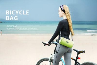 可斜揹多功能自行車手機觸控圓筒包,六色可挑 (3.1折)