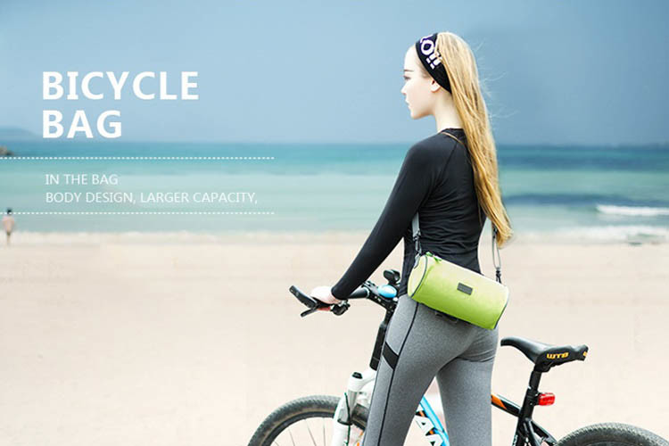 e.city_可斜揹多功能自行車手機觸控圓筒包六色可挑
