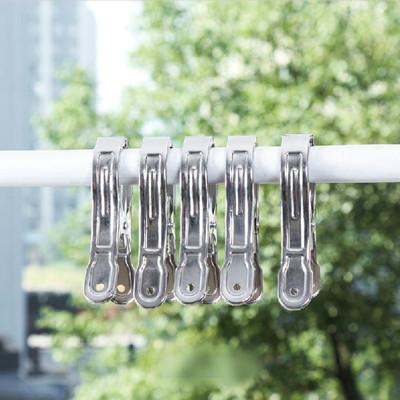 大型加厚強力不鏽鋼曬衣被夾(1組5入) (2.1折)