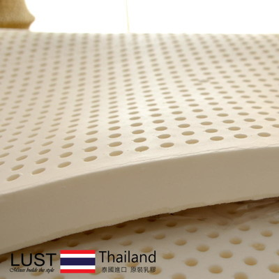 【LUST】 6尺100%純乳膠床墊 CERI純乳膠檢驗《含收納袋/白色棉布》 泰國乳膠床 (9.5折)