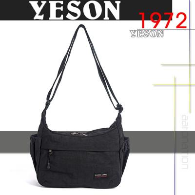 YESON - 頂級防潑水尼龍休閒斜(肩)背包 MG-S326-黑 (4.6折)