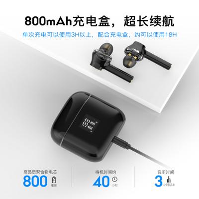 (免運)降噪TWS入耳式無線藍芽耳機5.0石墨烯雙動圈私模耳機T07洛達1536U (5折)