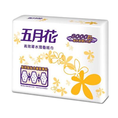 五月花 高效導水摺疊擦手紙200抽x20包 (7.2折)