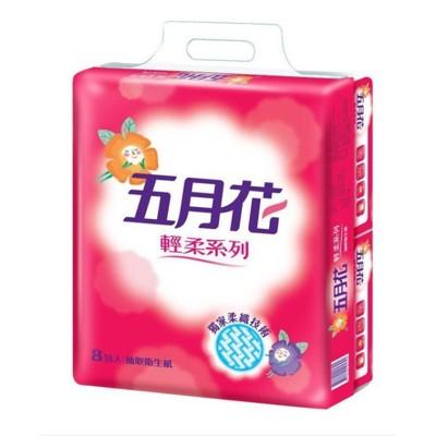 五月花 輕柔抽取式衛生紙110抽x8包x6袋 (9.1折)