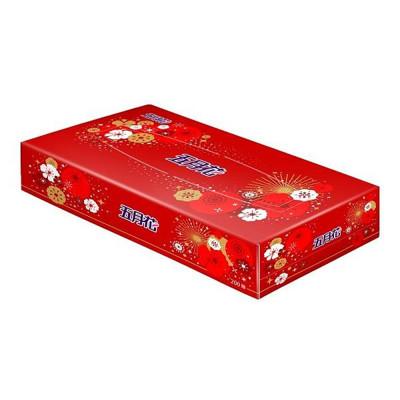 五月花 日式盒裝面紙-煙火版200抽*60盒 (7.2折)