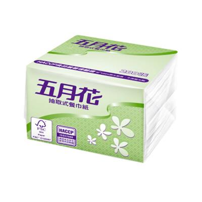 五月花 抽取式餐巾紙200抽x60包 (8折)