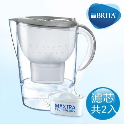 德國 brita 馬利拉 3.5l 星燦濾水壺+1支濾芯-銀色 (本組合共2芯)