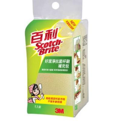 3m 百利 好潔淨抗菌杯刷補充包(1入) (8.9折)