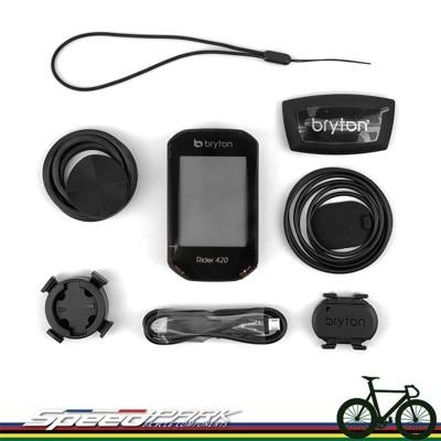 【速度公園】Bryton 420T『主機+踏頻+心跳帶+安裝座』碼表 GPS 支援踏板式功率計 (9.5折)