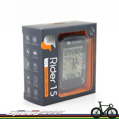 【速度公園】Bryton Rider 15E GPS自行車記錄器/防水 APP同步/附USB傳輸線、 (7.8折)