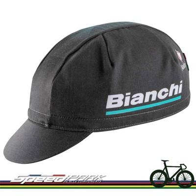 【速度公園】Bianchi RACE CAP 自行車 小帽 大LOGO 鬆緊帶 遮陽 黑色 Nali (10折)