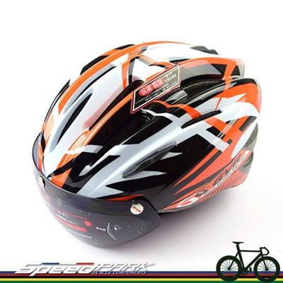 【速度公園】GVR G203V 跳躍系列 近視救星 安全帽 磁吸式 防風 鏡片 橘色 單速車 公路車 (10折)