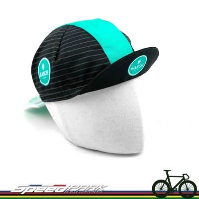 【速度公園】新款 Bianchi Celeste 線條款 單車小帽 鬆緊帶 遮陽 義大利製造 小帽 (10折)