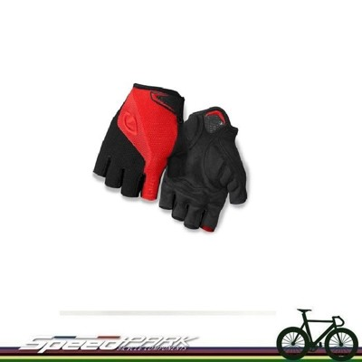 【速度公園】美國品牌 GIRO Bravo Gel 半指 防震手套 透氣 方便擦拭 紅黑-S/M/L (10折)