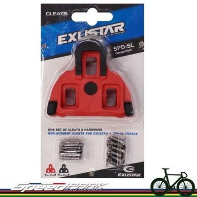 【速度公園】EXUSTAR SPD-SL SHIMANO 卡踏用扣片 鞋底板 止滑型 紅色 4.5度 (10折)