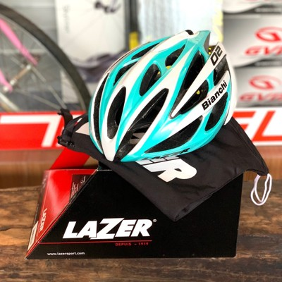 【速度公園】LAZER 安全帽 O2 亮面 bianchi RS單指輪轉調整系統 單一尺寸(55-6 (10折)