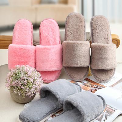 珊瑚絨厚底保暖室內拖鞋 (2折)