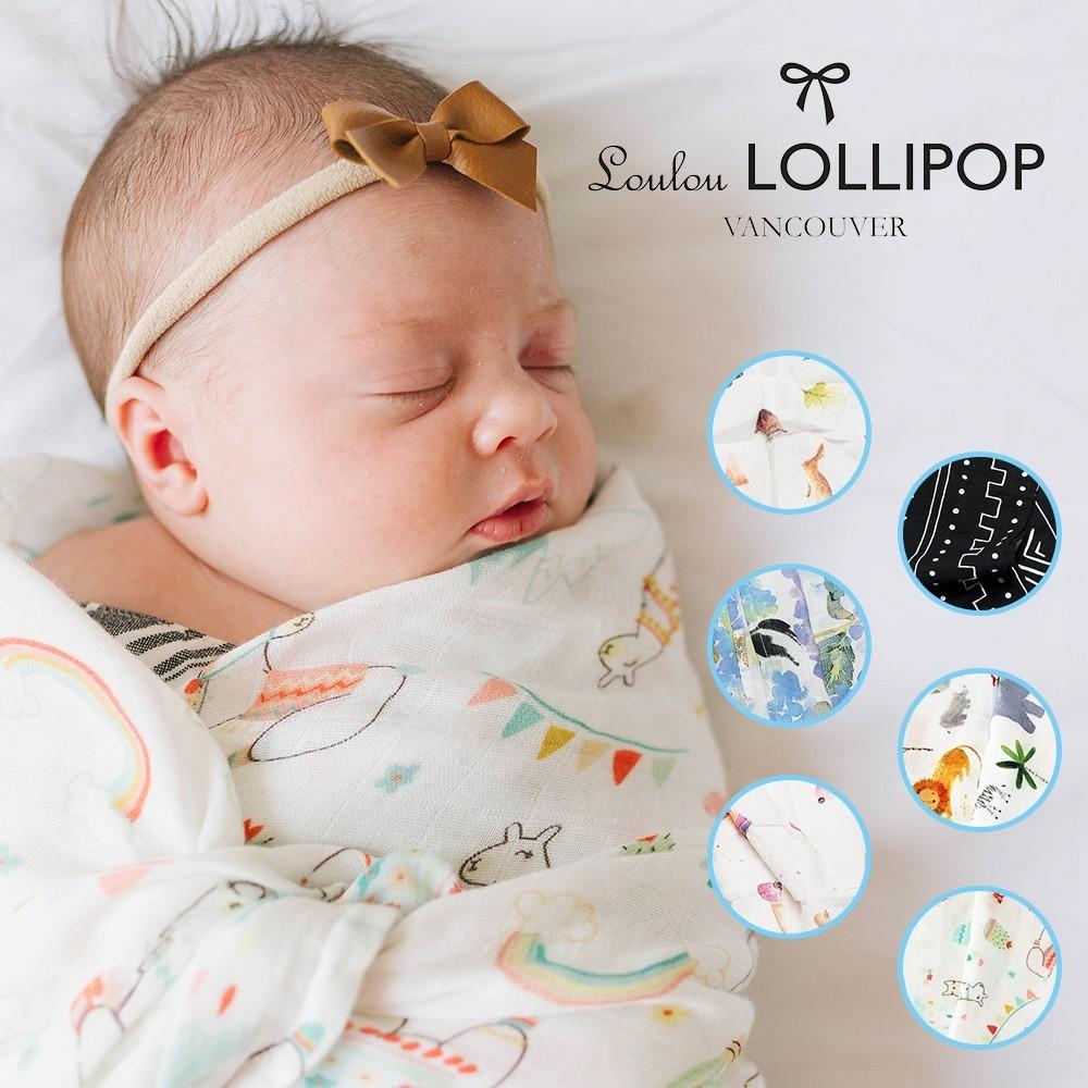loulou lollipop 加拿大 竹纖維透氣包巾(主題款)120x120cm-多款可選